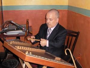 Frank Playing Hammer-Dulcimer